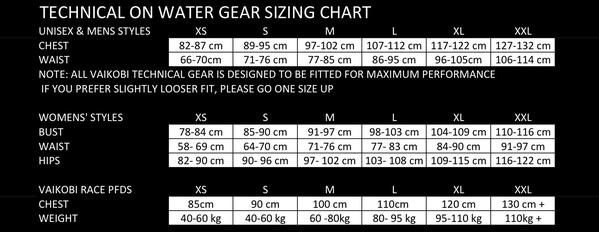 Vaikobi Size Chart